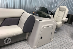 Helm Storage of a 2021 Sylvan Mirage 8520 Cruise Pontoon Boat