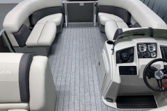 Interior Bow Layout of a 2021 Sylvan Mirage 8520 Cruise Pontoon Boat
