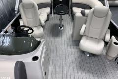 Interior Rear Layout of the 2021 Sylvan Mirage 8520 LZ Tritoon Boat