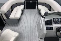 Interior Bow Layout of the 2021 Sylvan Mirage 8520 LZ Tritoon Boat