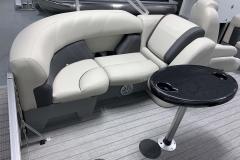 Grey Interior Color on the 2021 Sylvan Mirage 8520 LZ Tritoon Boat