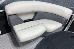 Built-In Cup Holders of the 2021 Sylvan Mirage 8520 LZ Tritoon Boat