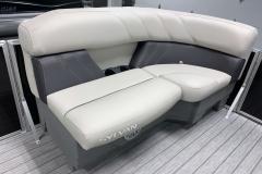 Two-Tone Interior Design of the 2021 Sylvan Mirage 8520 LZ Tritoon Boat
