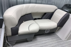 Rotocast Seat Bases of the 2021 Sylvan Mirage 8520 LZ Tritoon Boat