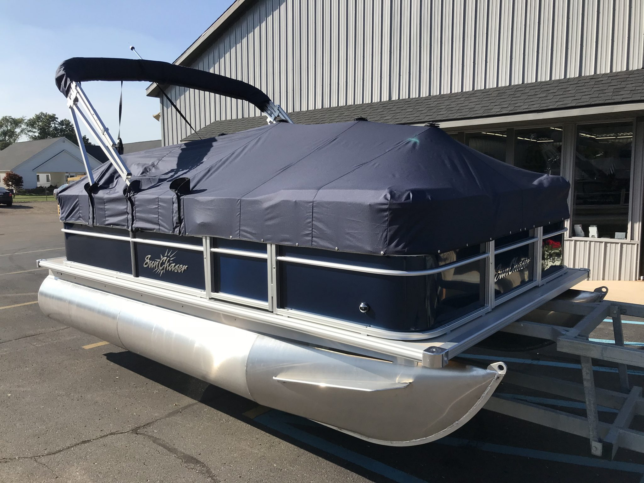 2019 SunChaser 816 Cruise Full Mooring Blue Cover