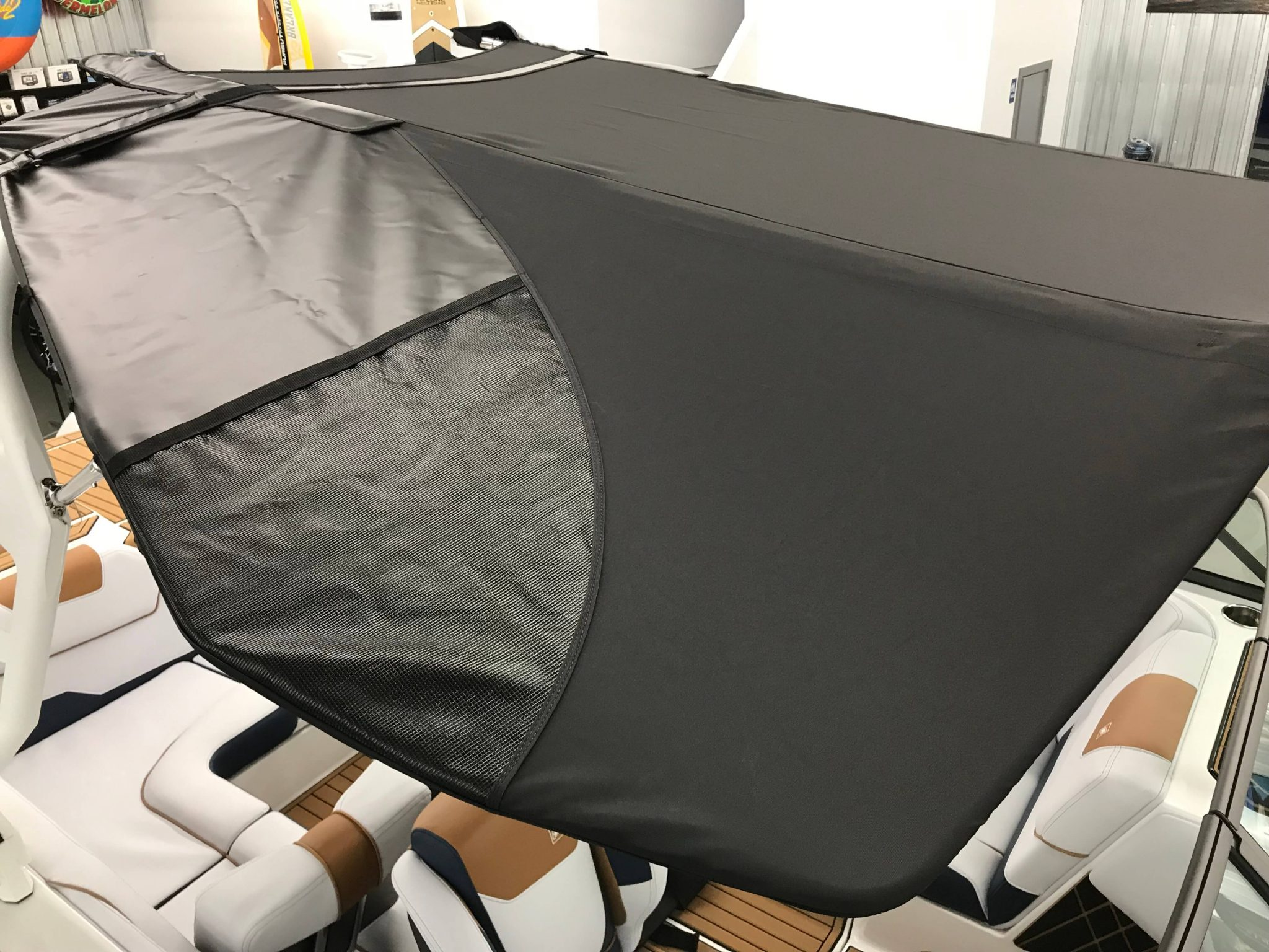 2019 Nautique GS22 Bimini Top Surf Pockets 1