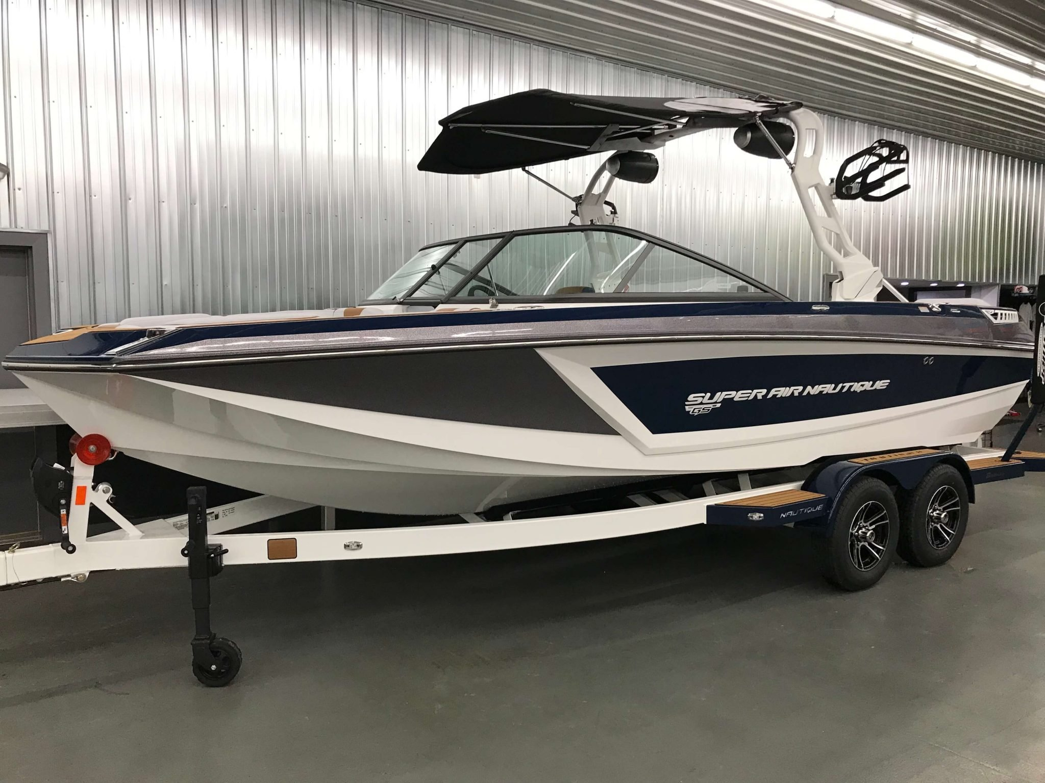 2019 Nautique GS22 Bimini Top Closed 1