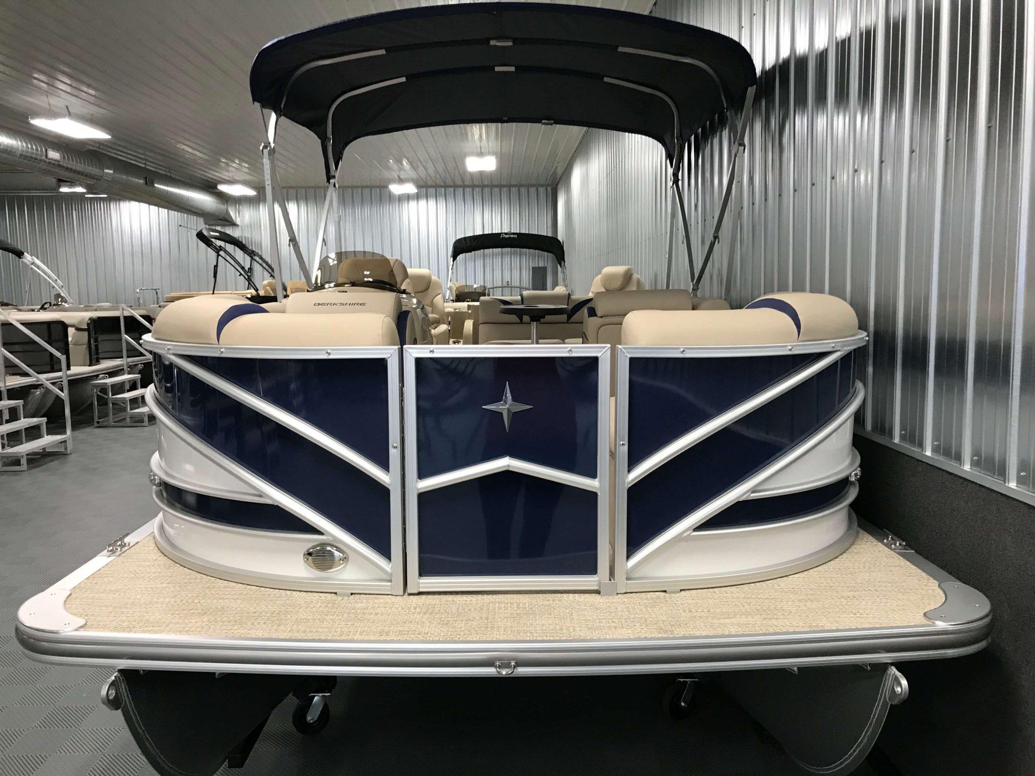2019 Berkshire 23RFC2 STS Deluxe Pontoon Blue Bimini Top 2