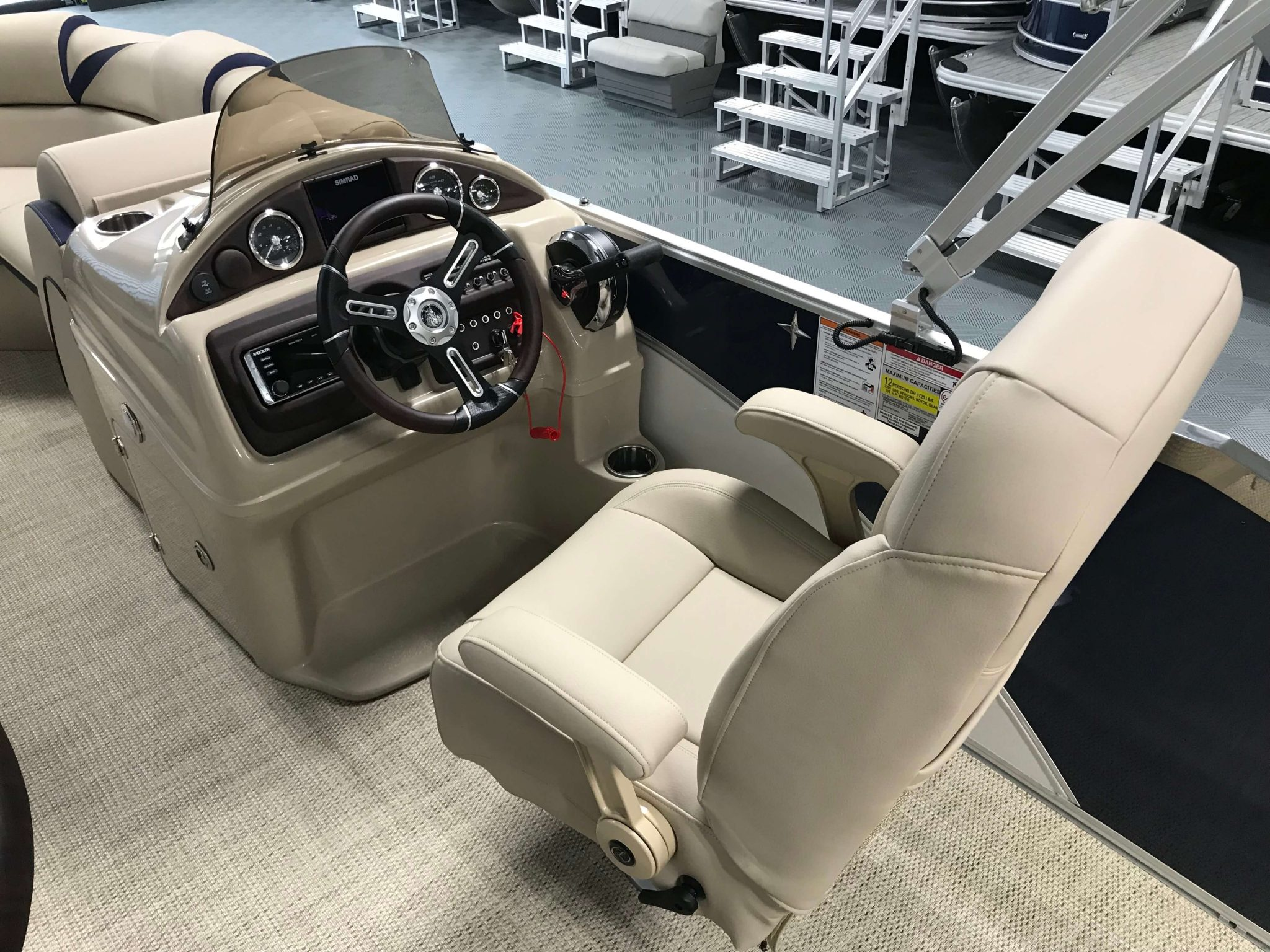 2019 Berkshire 23RFC2 STS Deluxe Pontoon Helm And Captains Chair