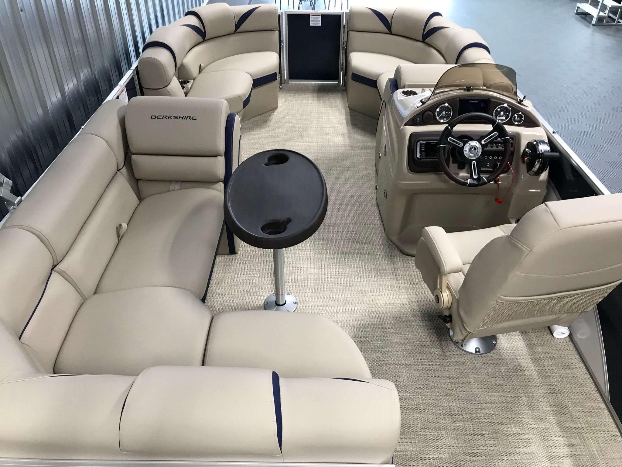 2019 Berkshire 23RFC2 STS Deluxe Pontoon Interior Cockpit Layout 1