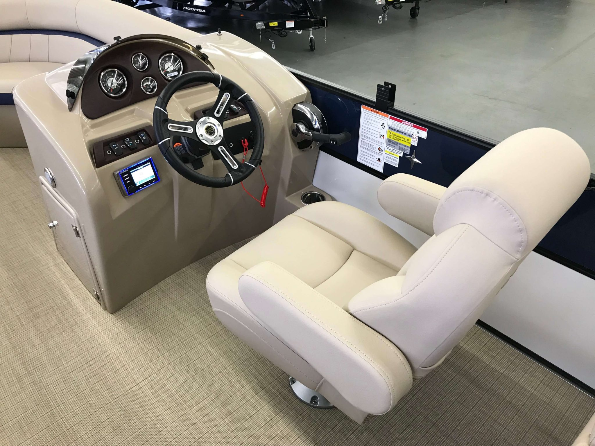2019 Berkshire 24RFX CTS 3.0 Tritoon Helm And Captains Chair