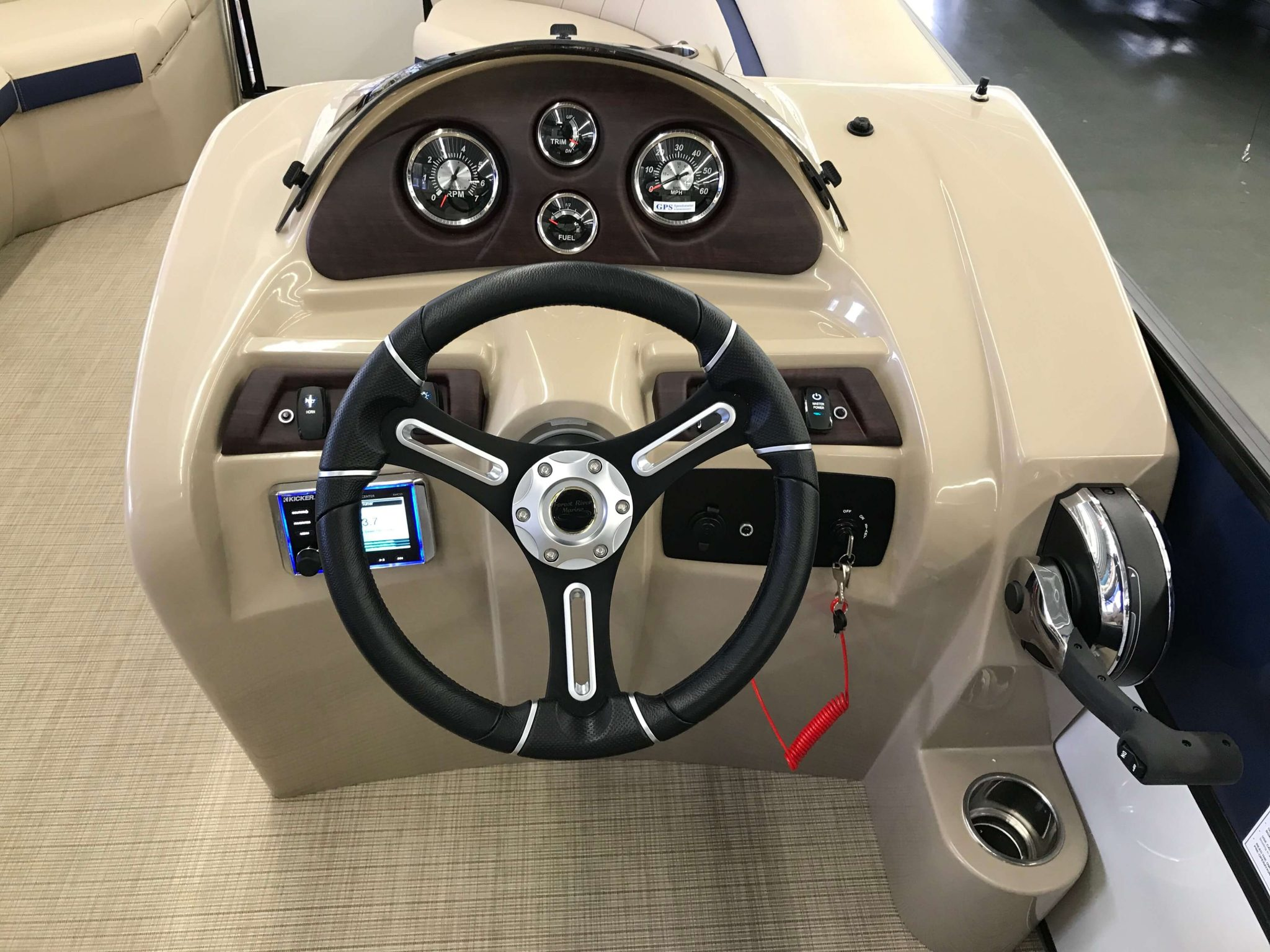 2019 Berkshire 24RFX CTS 3.0 Tritoon Helm And Dash