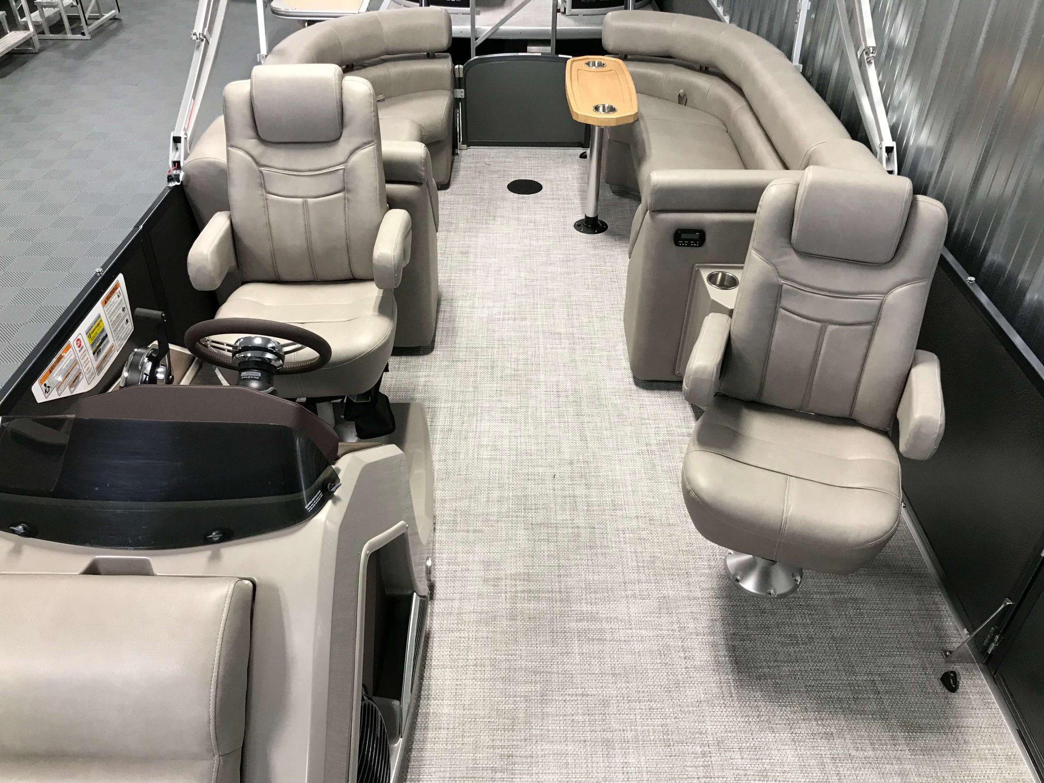 2019 Premier 250 Grand Majestic RF Tritoon Interior Cockpit Layout 3