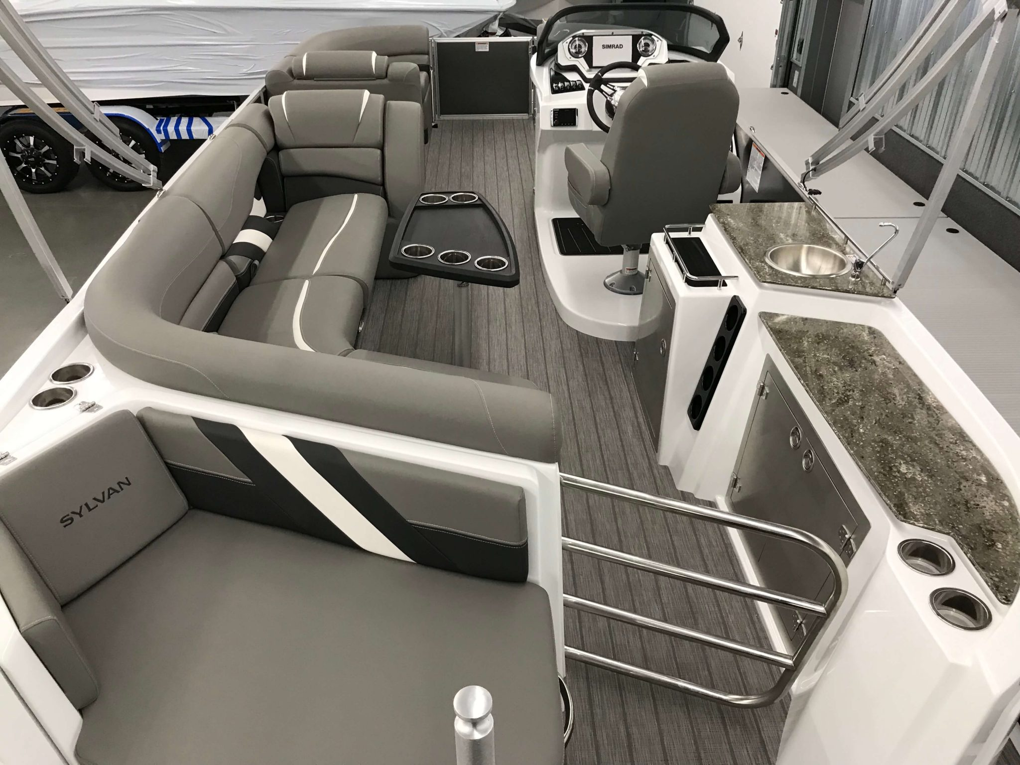 2019 Sylvan S3 Cruise Tritoon Interior Cockpit Layout 1