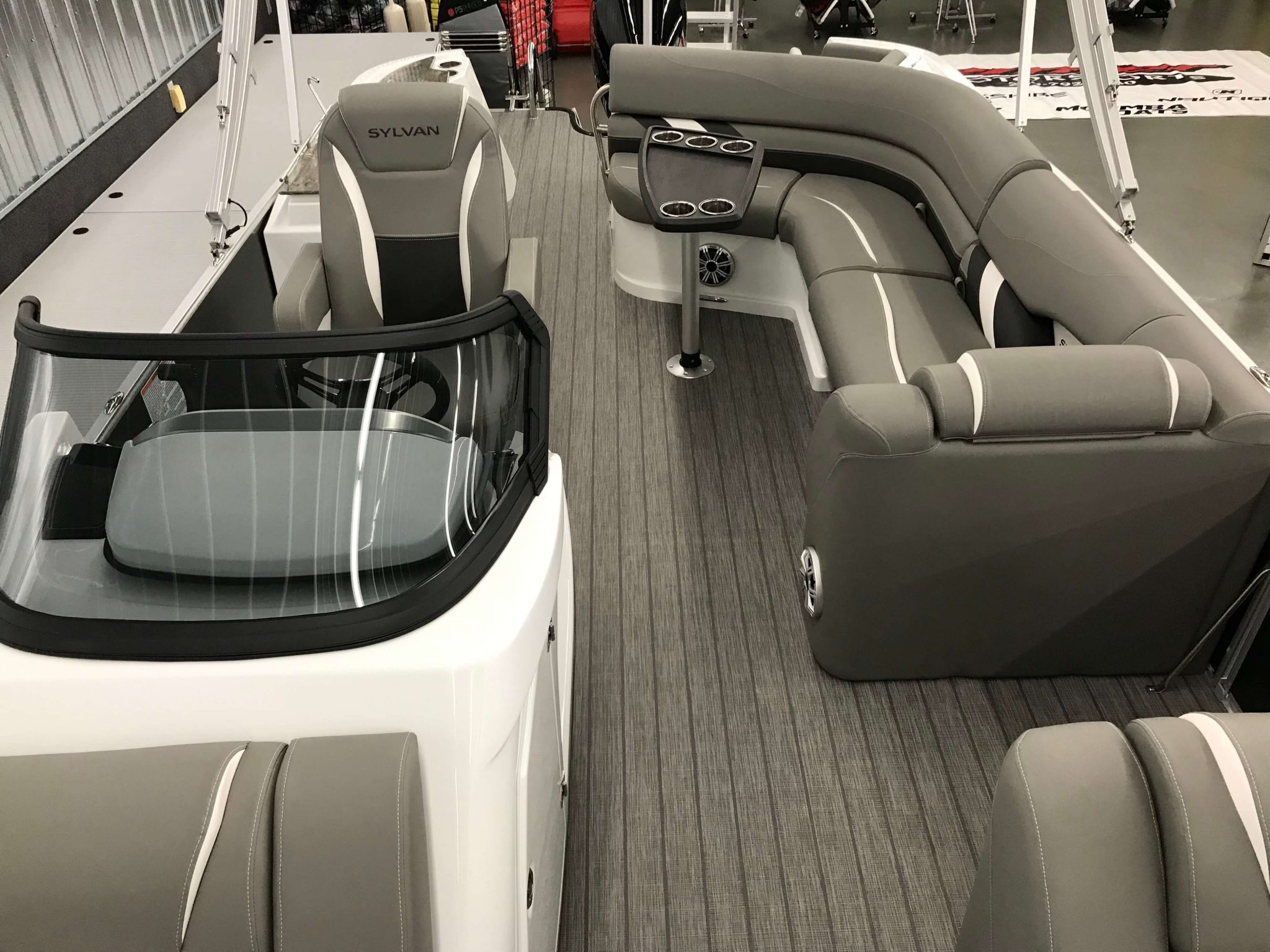 2019 Sylvan S3 Cruise Tritoon Interior Cockpit Layout 2