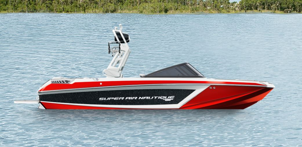 2019 Nautqiue GS20 Jet Black Metal Flake, Victory Red, And White 1
