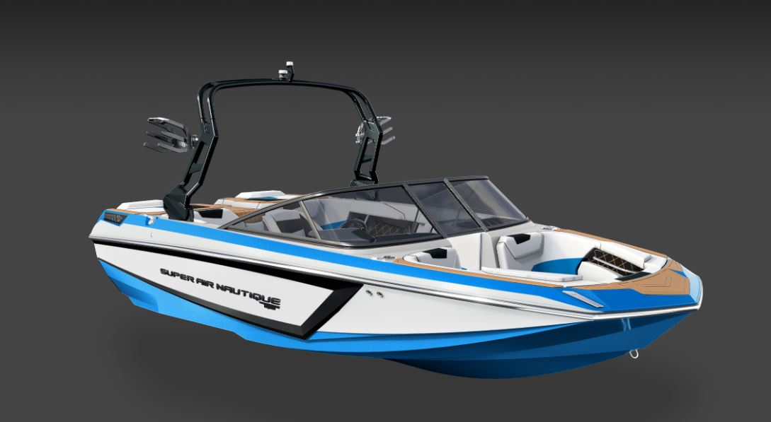 2019 Nautique GS20 Masters Blue, Black, And White 1