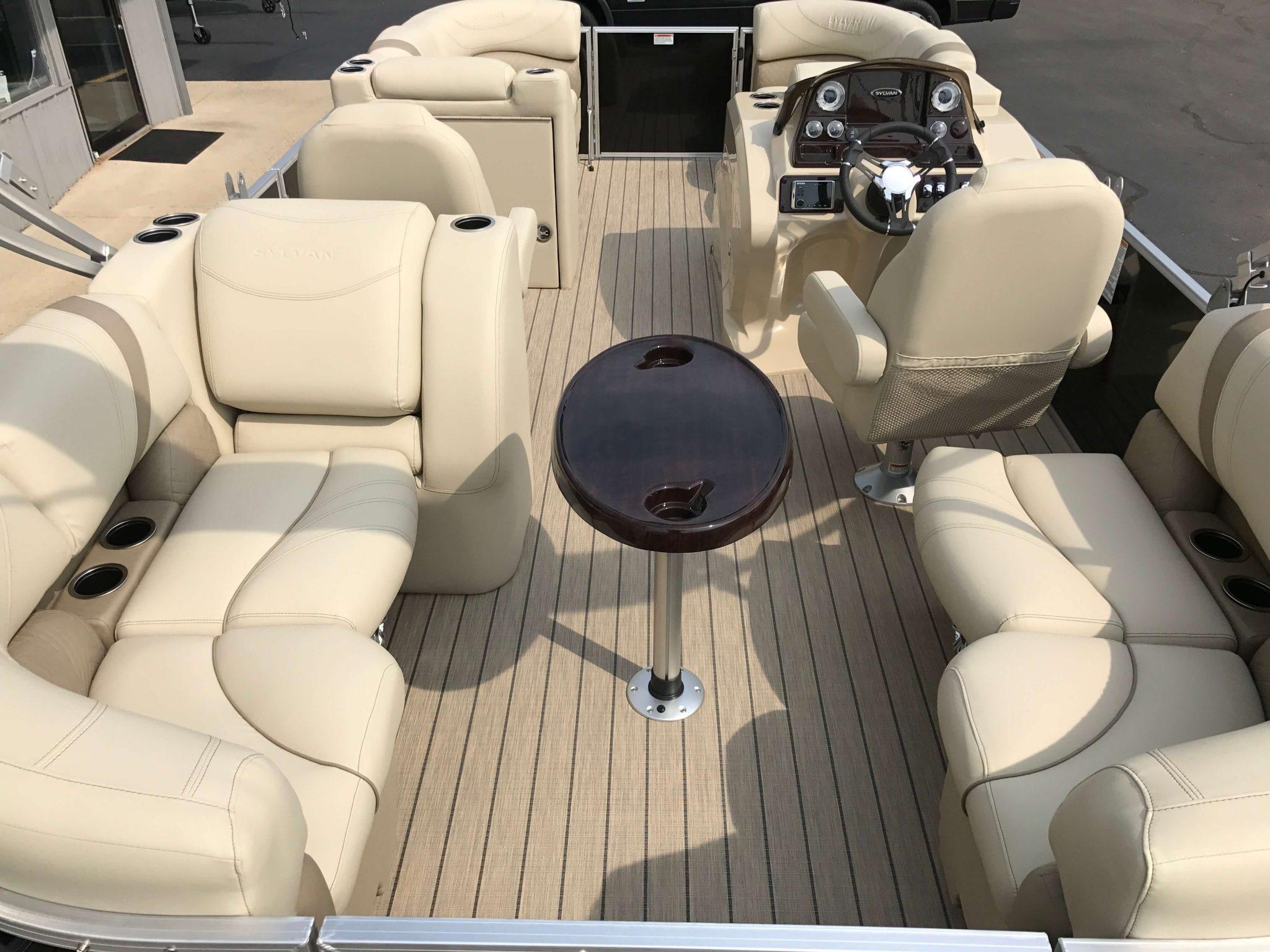 2019 Sylvan 8520 LZ LE Interior Cockpit Layout