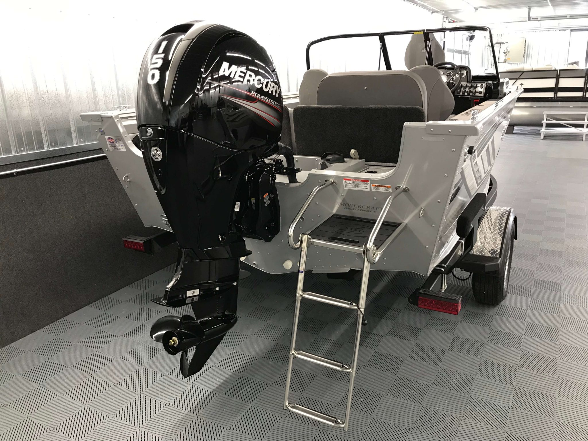 2019 Smoker Craft 182 Pro Angler XL Rear Ladder 1
