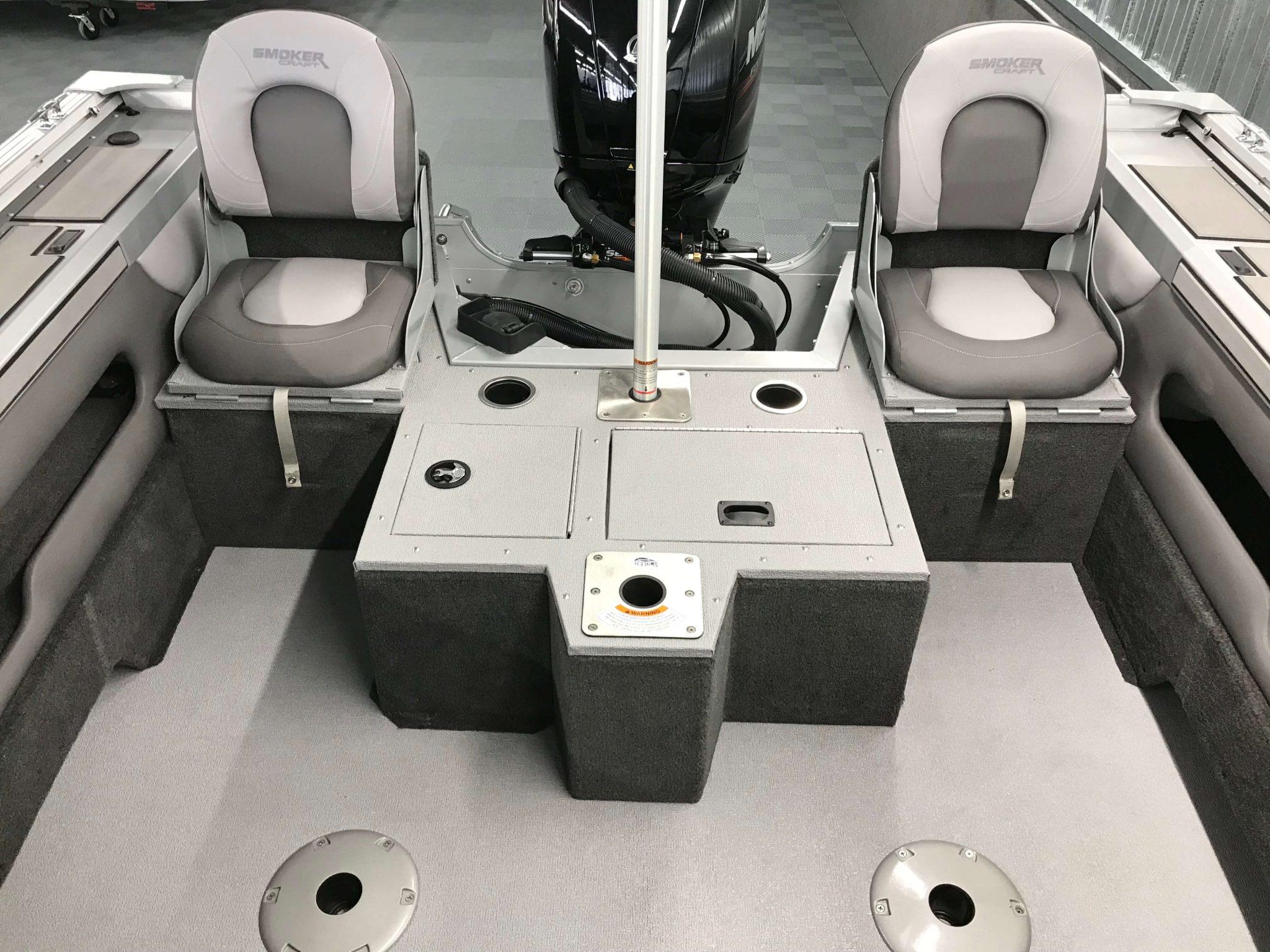 2019 Smoker Craft 182 Ultima Stern Seating Layout 2