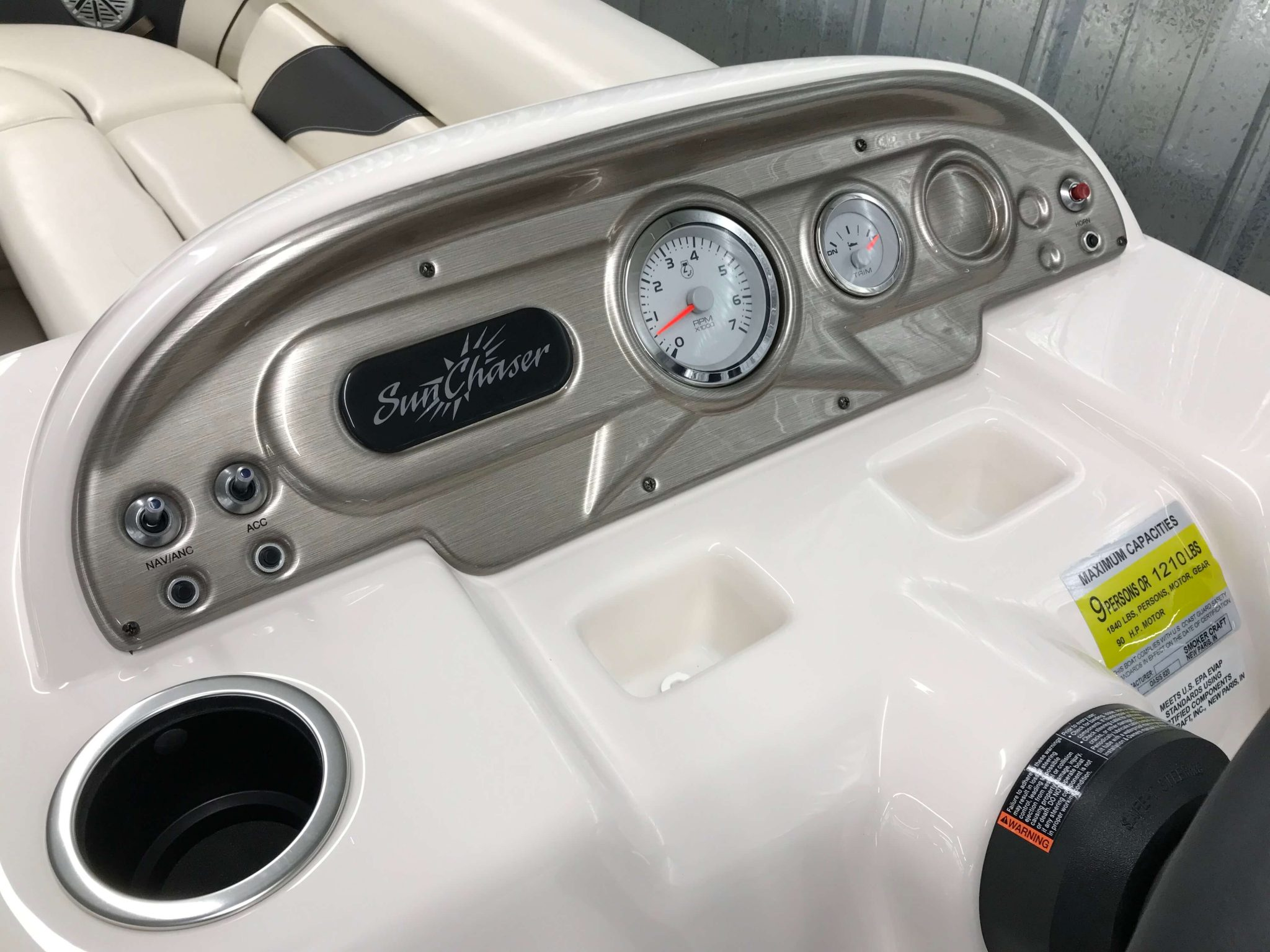 2019 SunChaser Oasis 820 Cruise Dash And Gauges