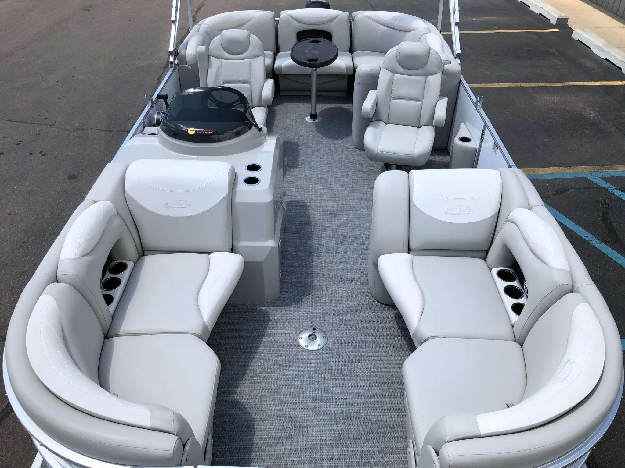 2016 Sylvan 8520 LZ LES Pontoon Boat Layout 1
