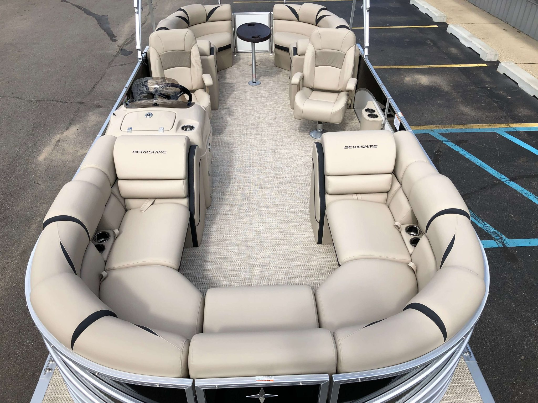 2019 Berkshire 23RFX STS Pontoon Boat Layout 1