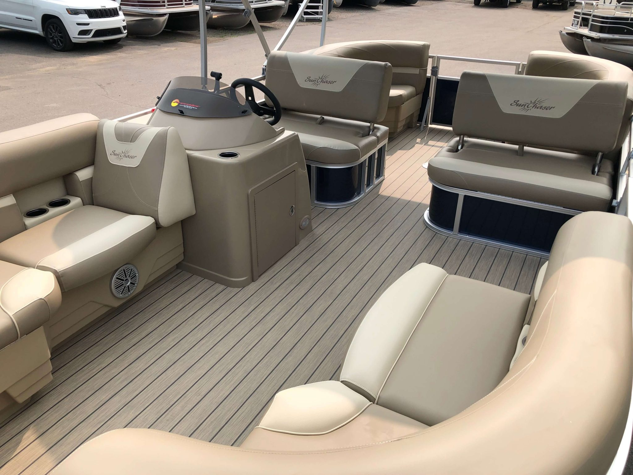 2019 Sunchaser Geneva 20 LR SB Blue White Interior 1
