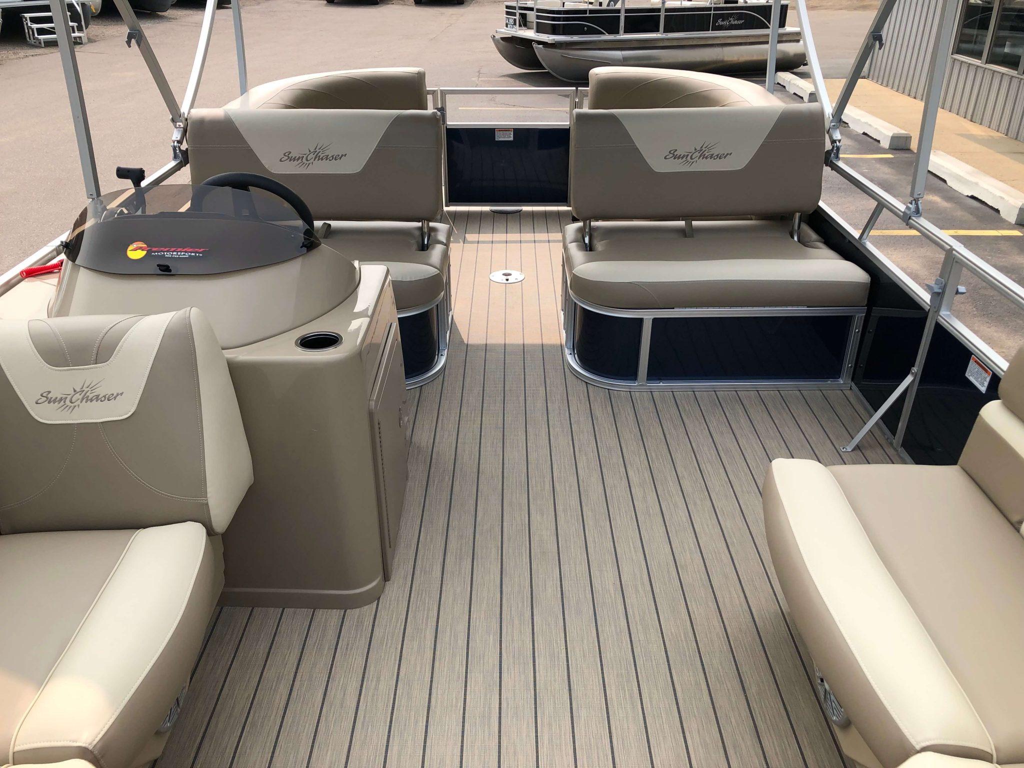 2019 Sunchaser Geneva 20 LR SB Blue White Interior 3