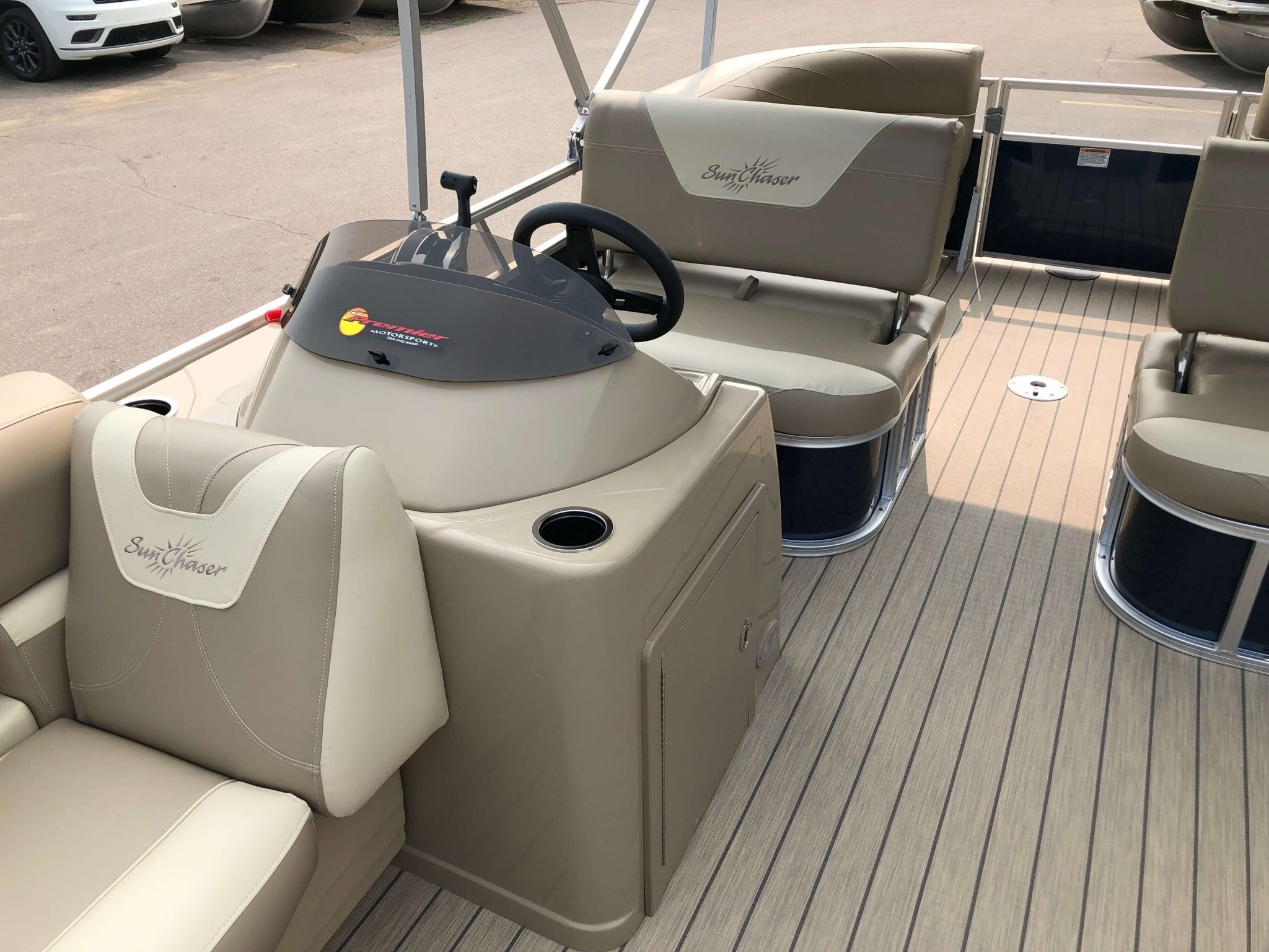 2019 Sunchaser Geneva 20 LR SB Blue White Interior 4