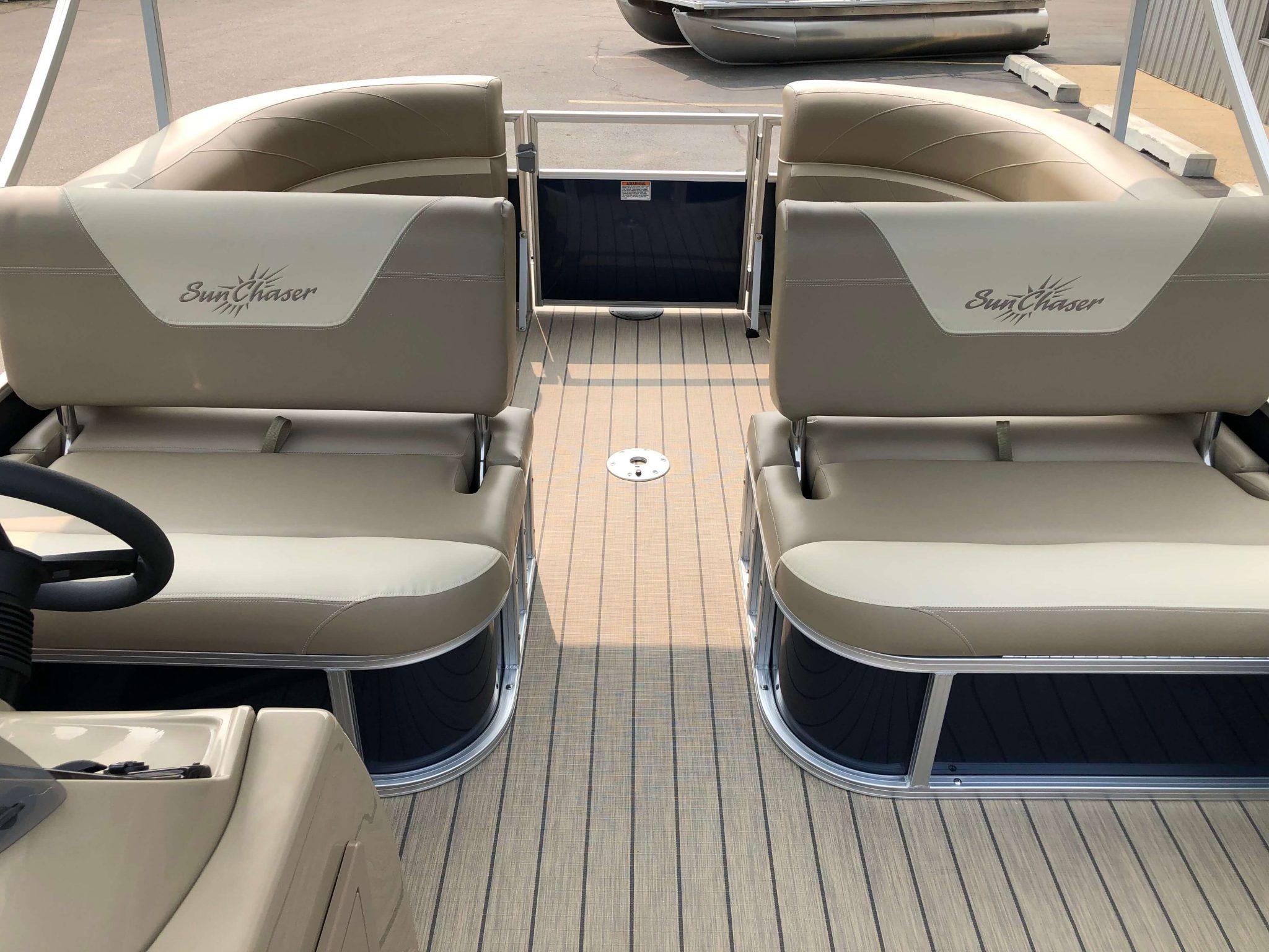 2019 Sunchaser Geneva 20 LR SB Blue White Interior 5
