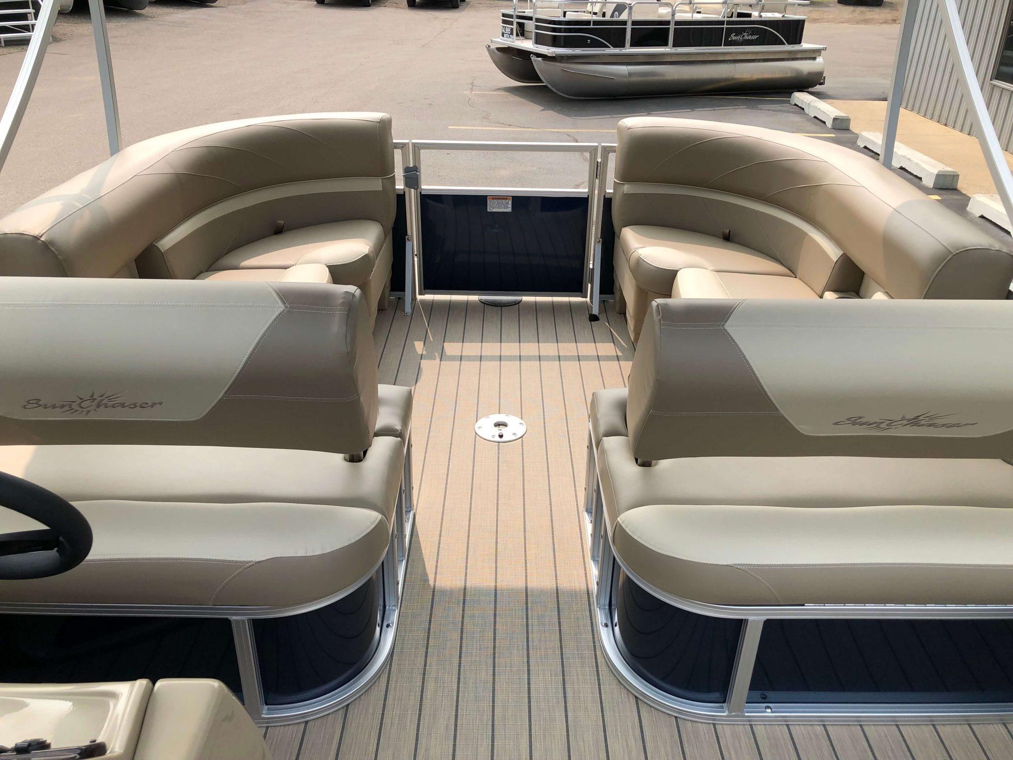 2019 Sunchaser Geneva 20 LR SB Blue White Interior 6