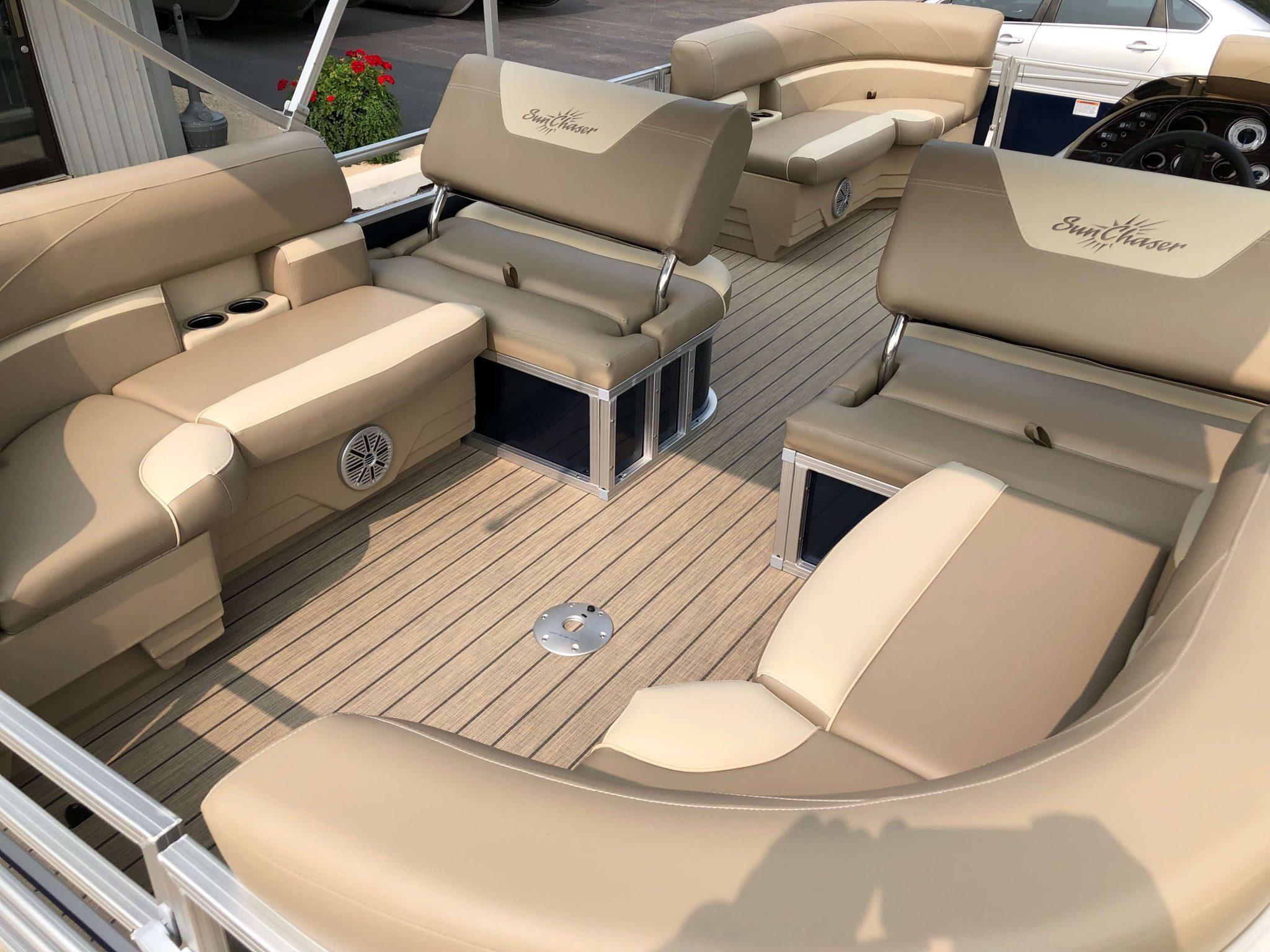 2019 Sunchaser Geneva 20 LR SB Blue White Interior 7