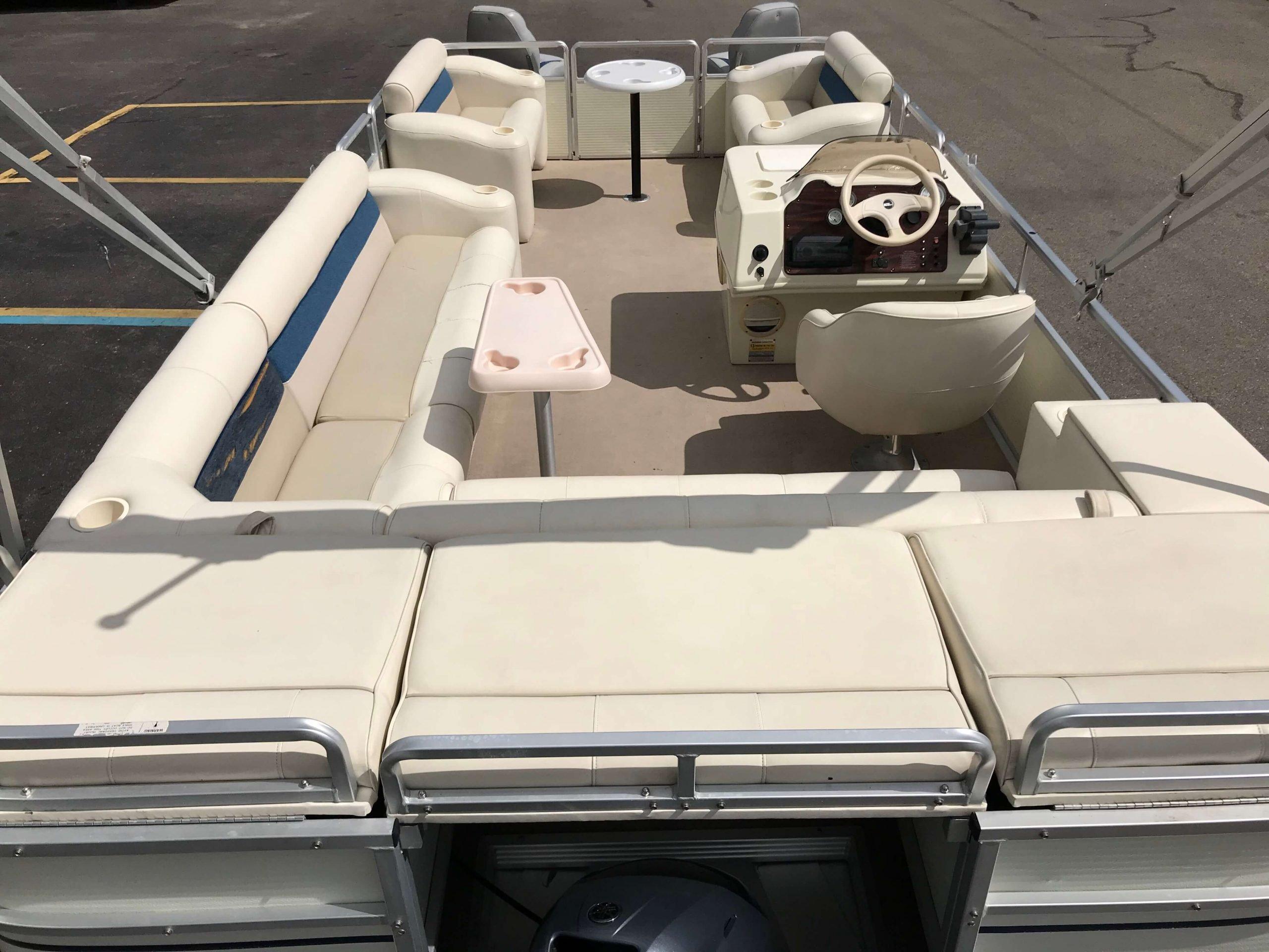 1998 Harris Kayot Skipper XL Pontoon Boat 4