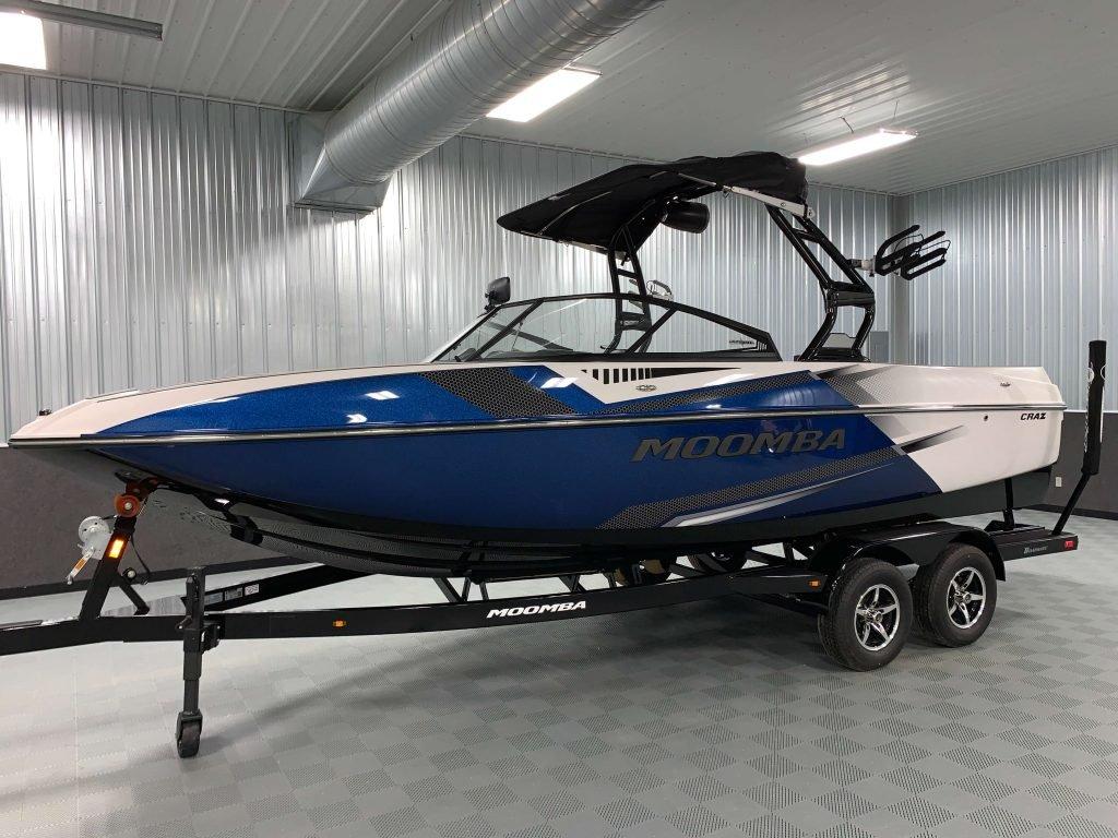 2020 Moomba Craz Wake Boat Steel Blue 2