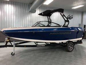 2020 Moomba Helix Wake Boat Steel Blue Flake 3