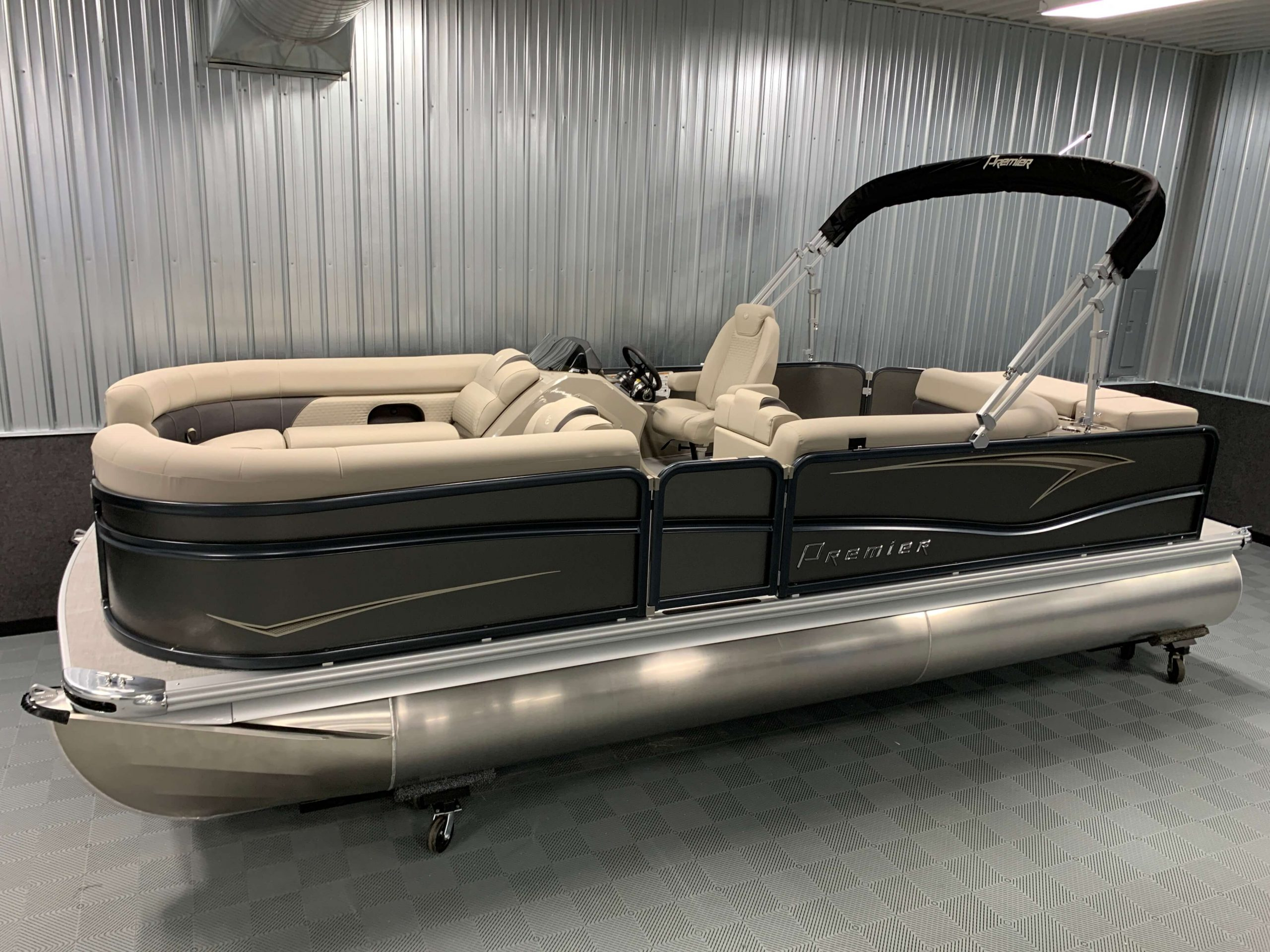 DELUXE PONTOON BOAT COVER Premier Boats 200 SunSation RE