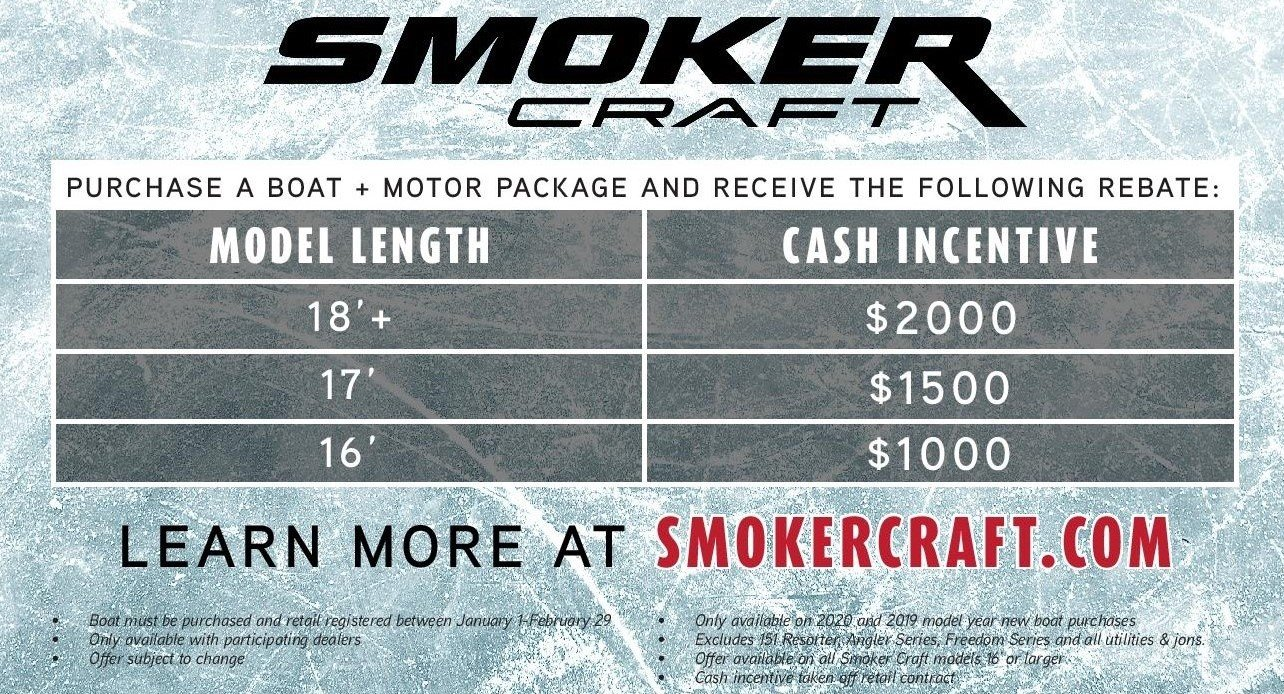 2020 Smoker Craft Winter Cash Sales Event 2